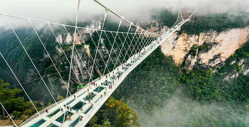 สะพานจางเจียเจี้ยแกรนด์แคนยอน ( Zhangjiajie Grand Canyon)